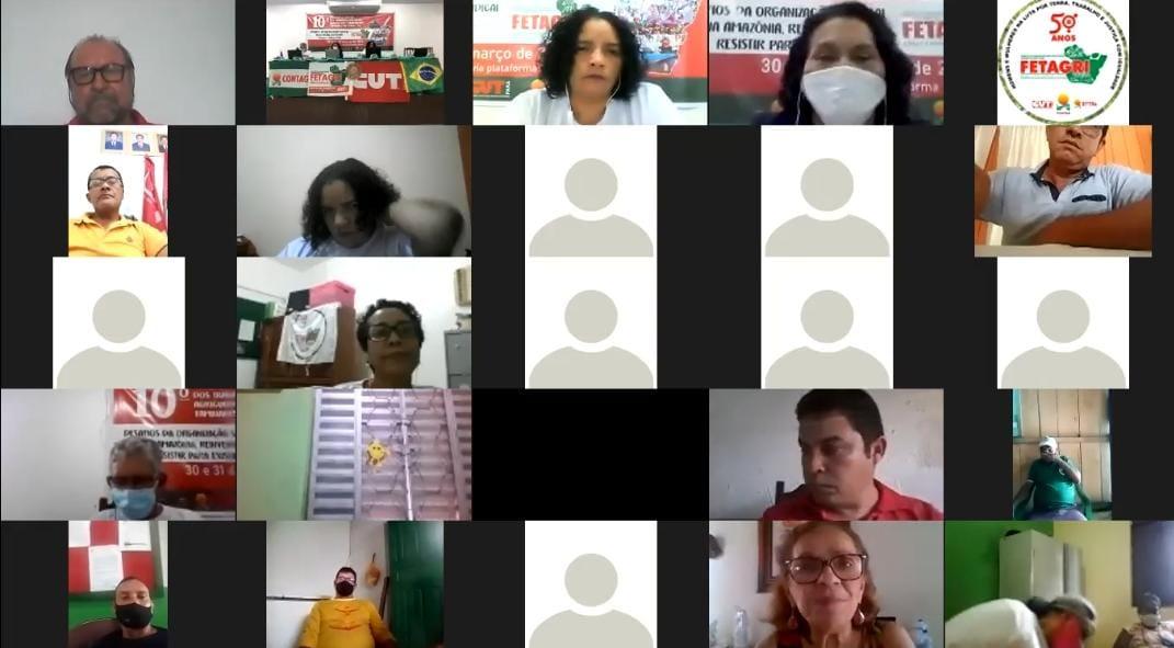 Graça Costa fala sobre a luta das mulheres camponesas durante congresso da FETAGRI